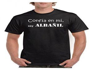 camisetas divertidas child confia en mi soy albail para hombre camisetas 300x228 - Camisetas de Albañil