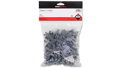 rubi 2036 crucetas para juntas gris 6 mm set de 100 piezas - Crucetas para Azulejos