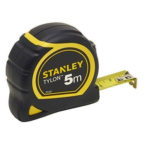 stanley 0 30 697 cinta mtrica tylon 5 m negro - Cinta Métrica - Flexómetro Albañil