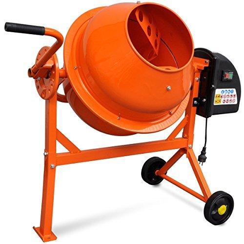 vidaxl 141200 hormigonera elctrica de acero 63l 220w color naranja - Hormigonera Albañil